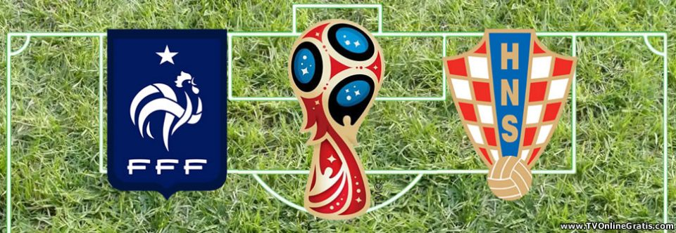 Final Mundial Rusia 2018: Francia vs. Croacia.